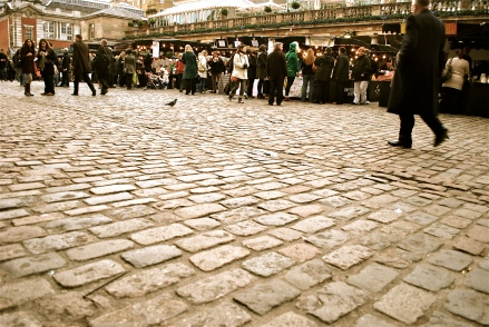OK, this is Covent Garden in London, not Paris OR Montreal. But it speaks to perspective.