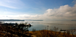The view over Lake Champlain from Burlington