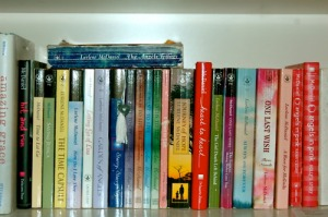 a selection of McDaniels' books.