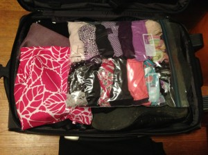 Now I can never run for office, my underwear is on the Internet. A typical packed suitcase of mine.