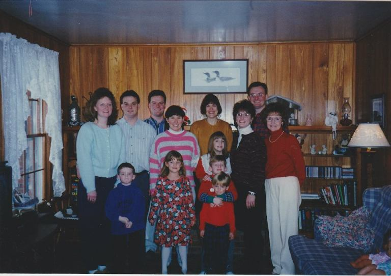 An old family photo, of  (a selection of) the people who matter most.