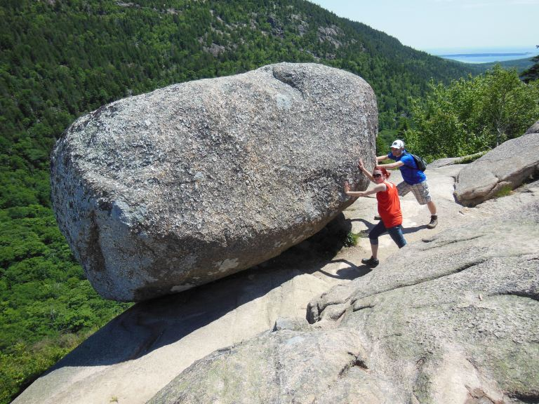I advocate healthy exercise, like trying to push a giant boulder off a cliff.