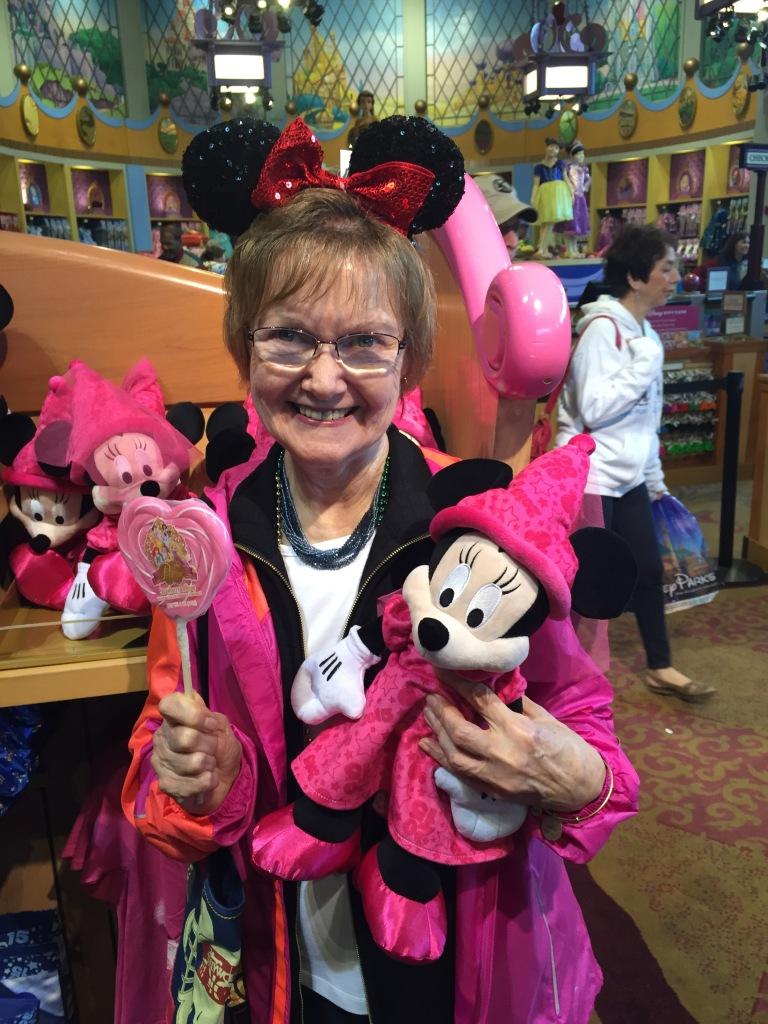 Grandma, in all her Disney glory,